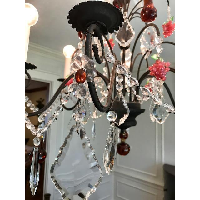Dark Bronze Crystal Chandelier - Image 5 of 11