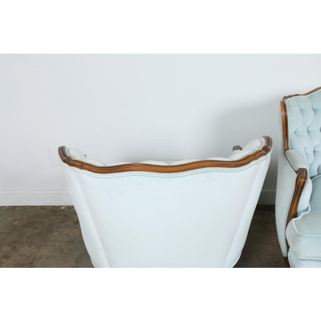 Italian-Style Chairs in Baby Blue - A Pair - Image 10 of 11