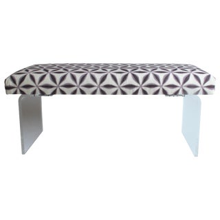 Upholstered Lucite Bench For Sale