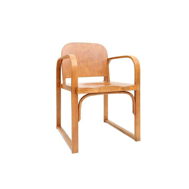 Mid-Century Modern Czech Plywood Chair Tatra For Sale - Image 3 of 8