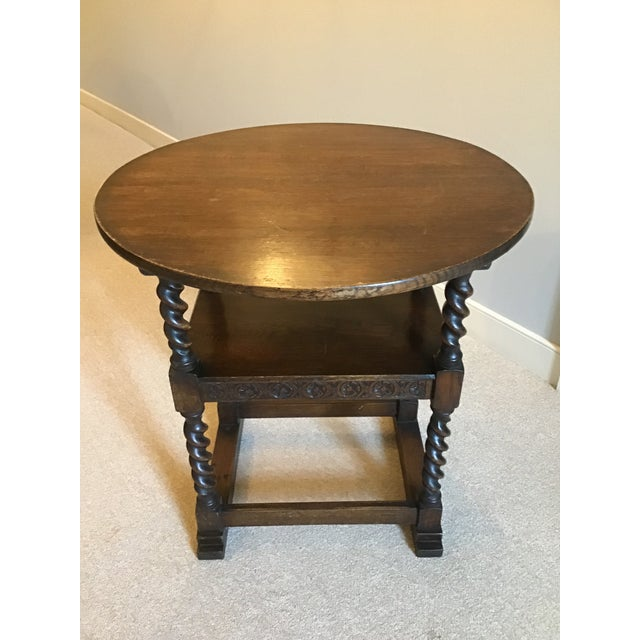Victorian Antique Monk's Chair/Side Table For Sale - Image 3 of 12