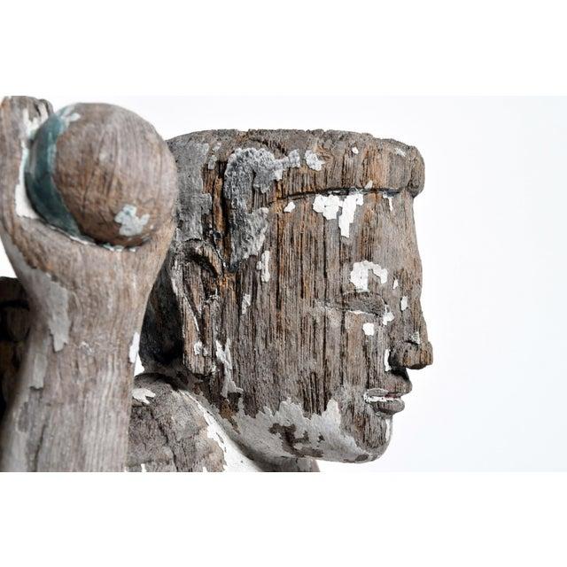 Carved Teak Wood Cupids For Sale - Image 12 of 13