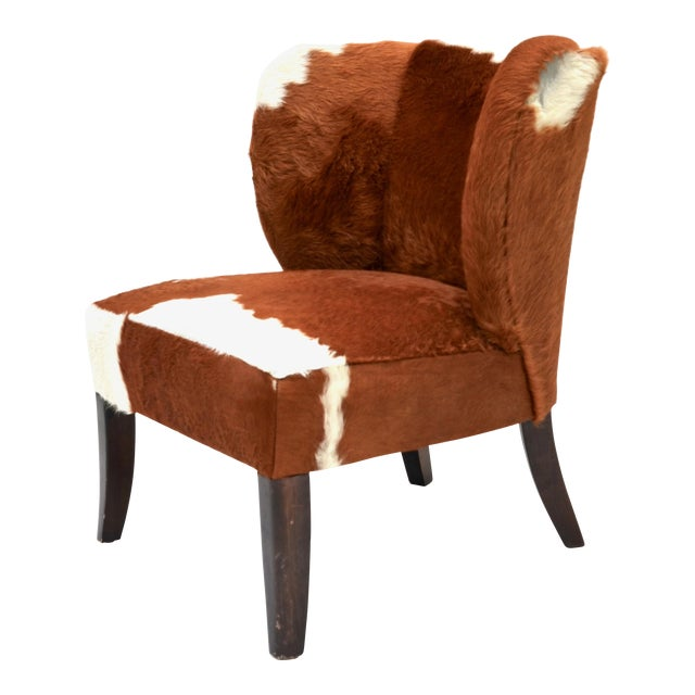 Vintage Cowhide Chair For Sale