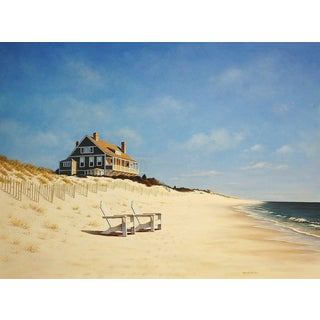 Daniel Pollera, Mid Day at East Hampton Beach Painting, 2017 For Sale