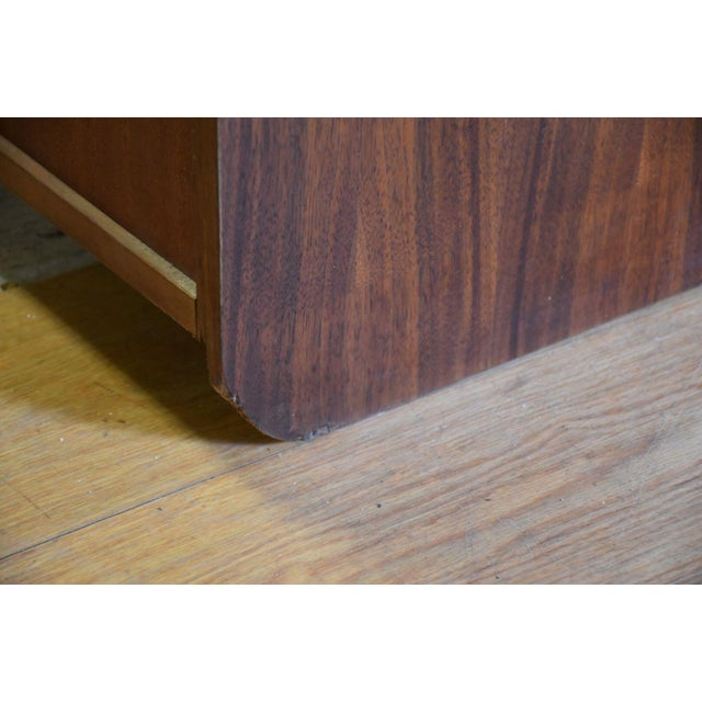 Large Walnut Bookcases- A Pair For Sale - Image 9 of 10