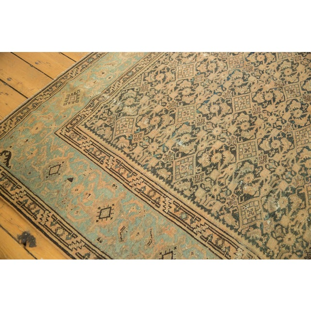 "Cotton Vintage Distressed Malayer Carpet - 7' X 10'2"" For Sale - Image 7 of 13"