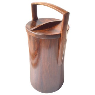Rosewood, Palisander Tall, Ice Bucket by Jens Quistgaard for Dansk, Stamped For Sale