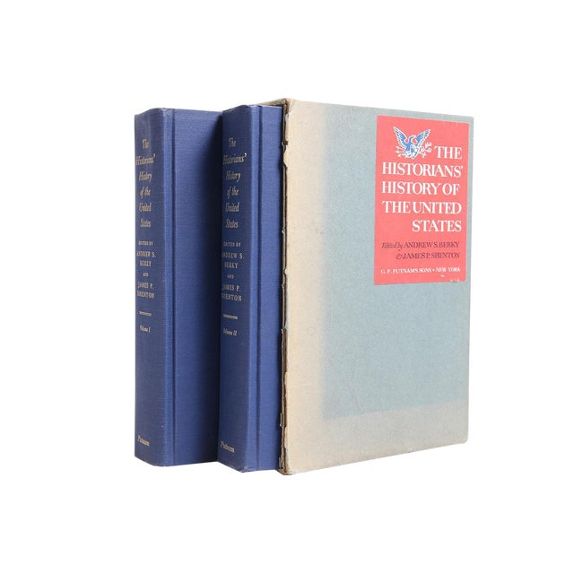 """1966 """"Slipcased Edition, Historians' History of the u.s.,, 2 Vols."""" Collectible Book For Sale"""
