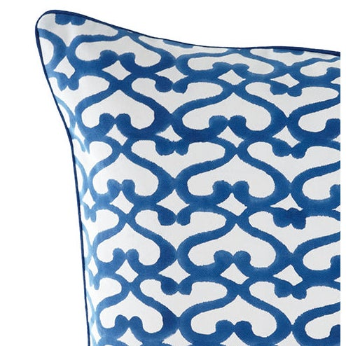 Add a splash of color to your home with this Roberta Roller Rabbit decorative pillow cover. The piece features a blue and...