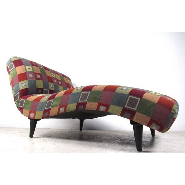 Mid-Century Modern Style Chaise Lounge - Image 3 of 8