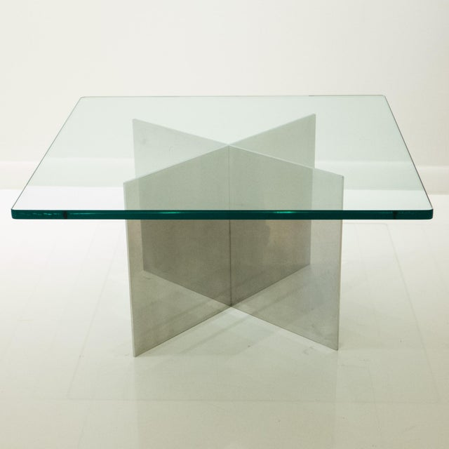 Contemporary Paul Mayen Polished Aluminum Cocktail Table For Sale - Image 3 of 8