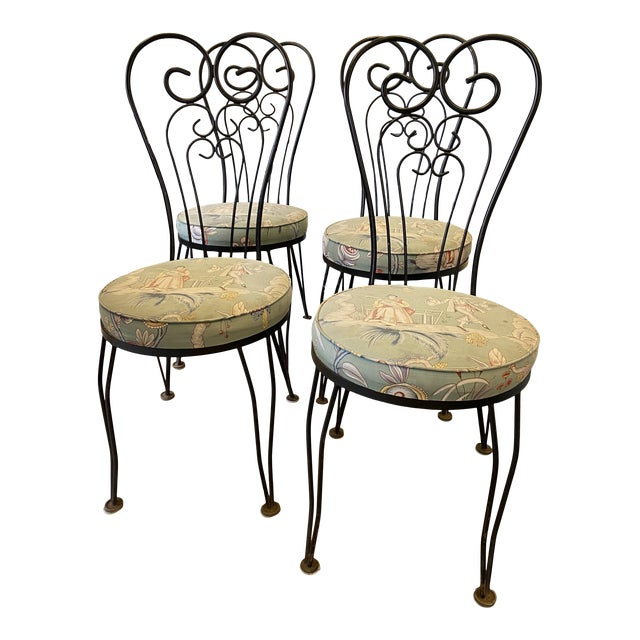 1950s Vintage Garden Chairs - Set of 4 For Sale