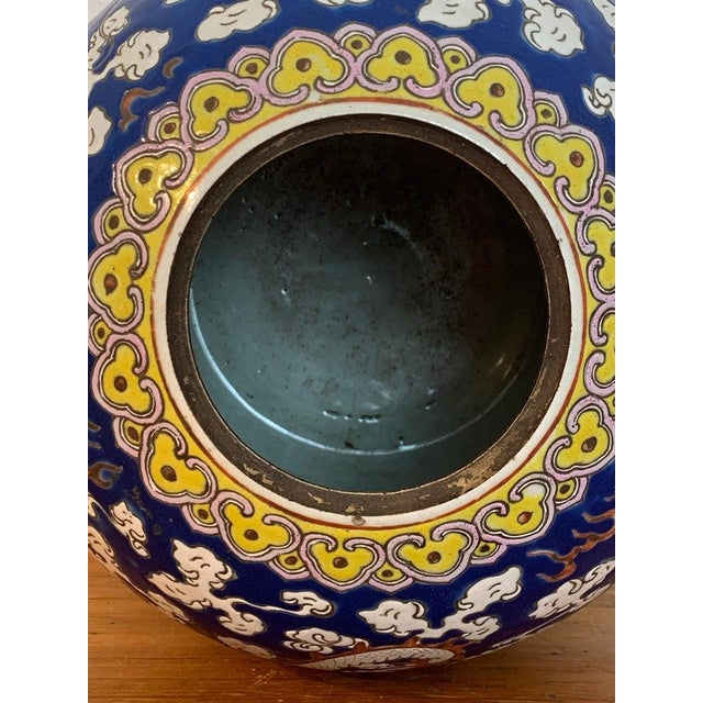 Ceramic 20th Century Chinese Export Polychrome Enamel Ginger Jar For Sale - Image 7 of 13