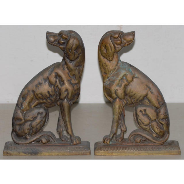"""19th Century Cast Iron """"Shorthaired Pointer"""" Andirons C.1880s - a Pair For Sale - Image 9 of 9"""