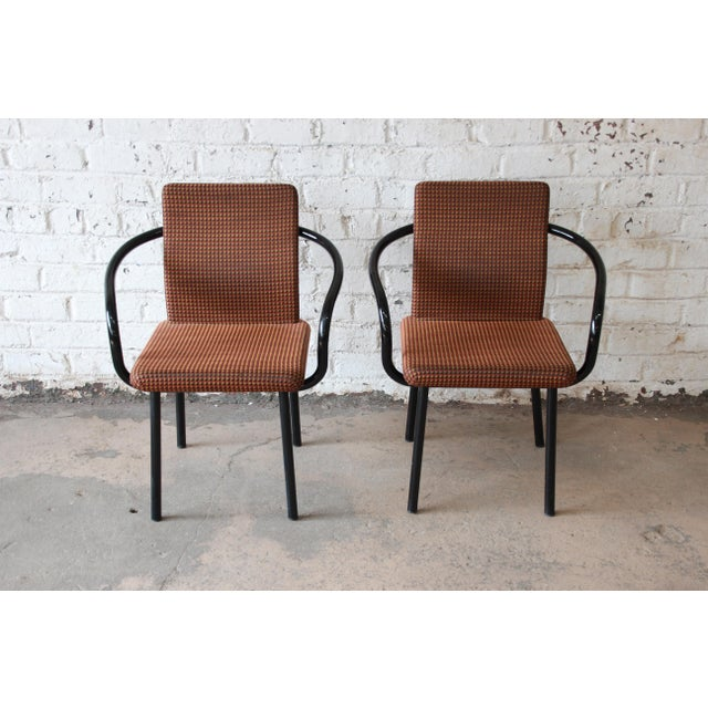 """Ettore Sottsass for Knoll """"Mandarin"""" Armchairs - a Pair For Sale In South Bend - Image 6 of 11"""