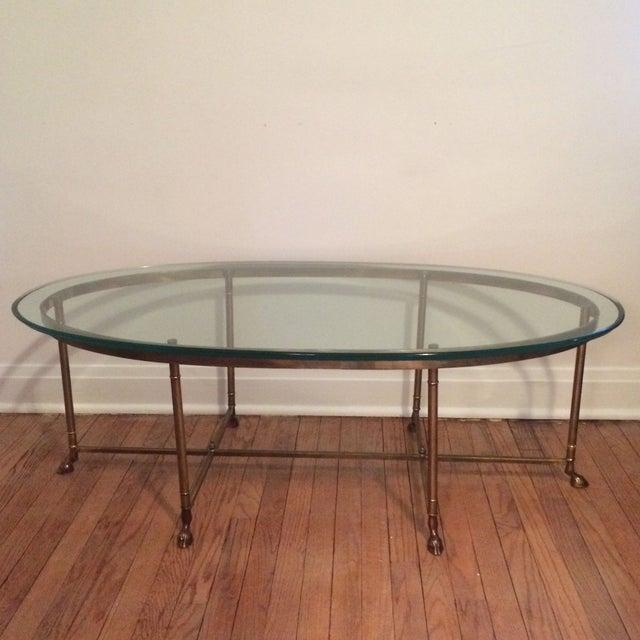 La Barge Gilt Glass Coffee Table - Image 5 of 6