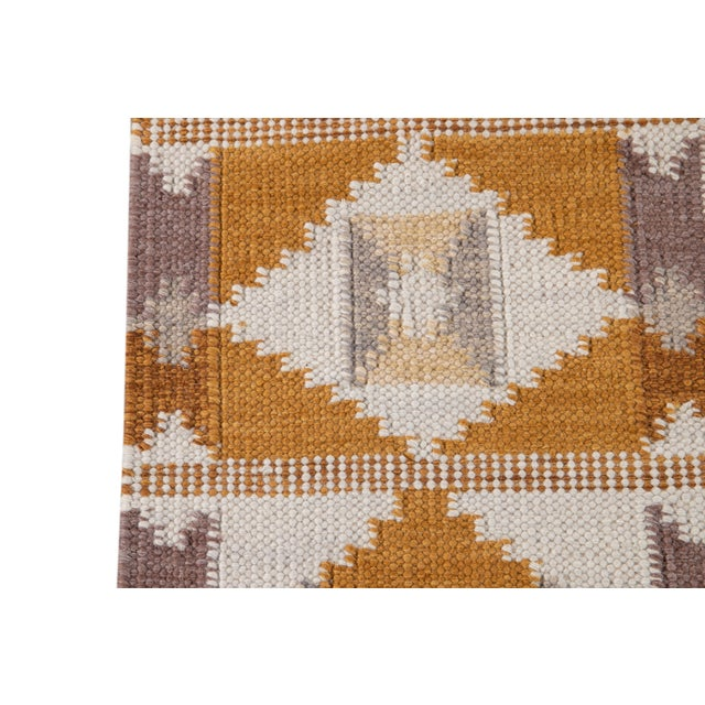 21st Century Modern Swedish-Style Wool Runner Rug For Sale In New York - Image 6 of 12