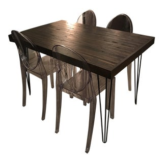 Custom Dining Table & Chairs - Set of 5