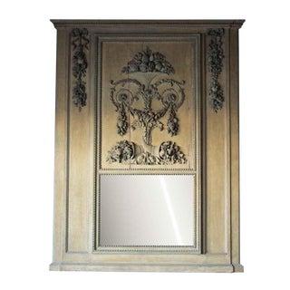 Vintage Mid-Century Trumeau Carved Mantel Mirror For Sale
