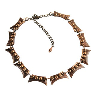 Matisse Renoir Modernist Copper Necklace For Sale