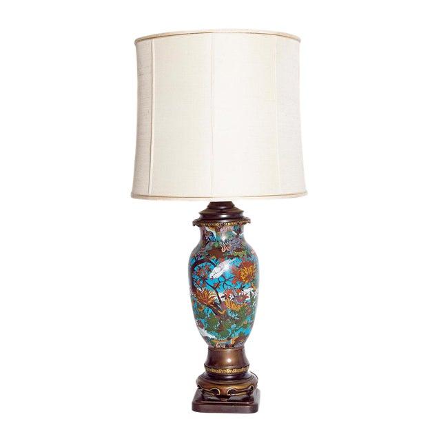 Late 19th Century Japanese Meiji Cloisonne Vase as Custom Lamp For Sale