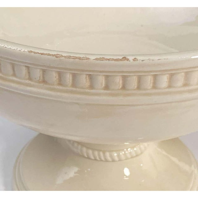 Italian Creamware Tureen or Bowl on Pedestal With Mixed Fruit Topiary Top For Sale - Image 12 of 13