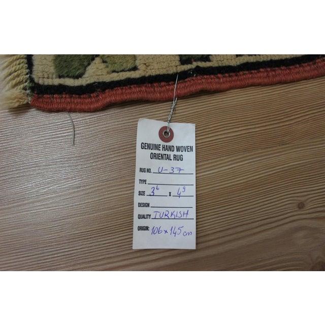 Textile Ori̇ental Turki̇sh Wool Rug - 3′6″ × 4′10″ For Sale - Image 7 of 7