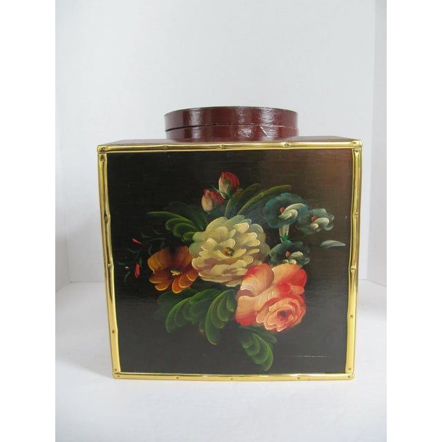 Floral Laquer Box - Image 2 of 7