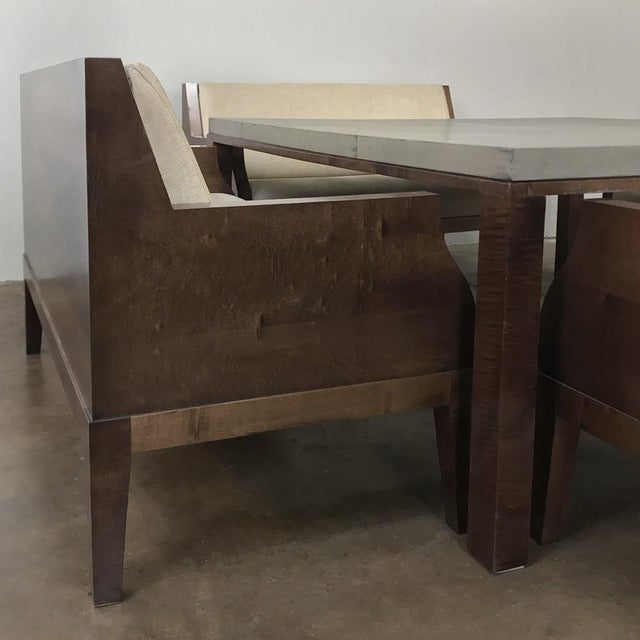 Designer Table & 4 Matching Benches by Christian Liaigre For Sale In Dallas - Image 6 of 13