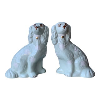 Grandmillennial Staffordshire Style Dogs - a Pair For Sale