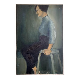 1961 Laura Smith Female Study Painting For Sale