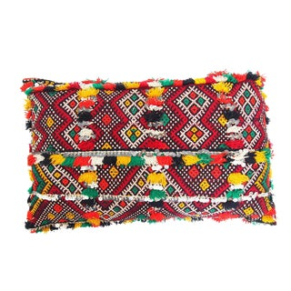 Handmade Moroccan Kilim Style Pillow with Sequins For Sale