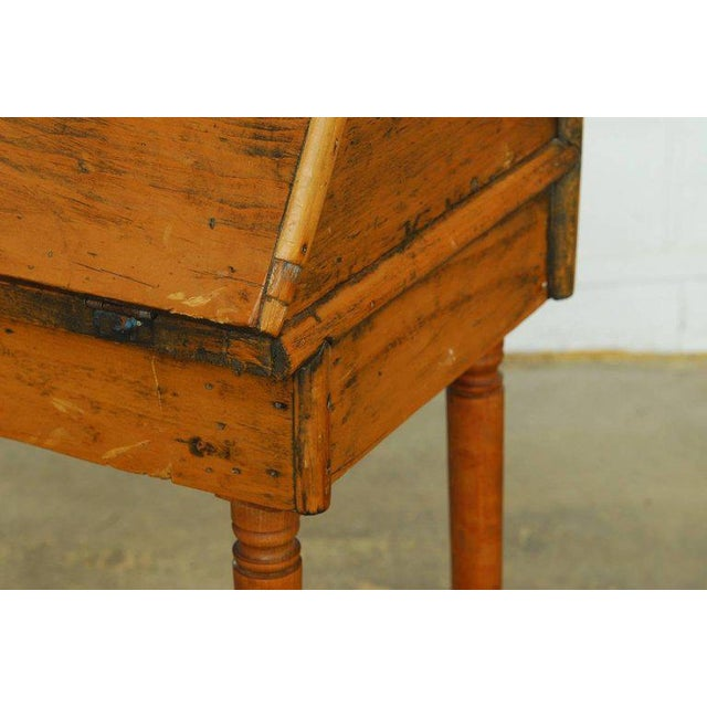 Rustic 19th Century Diminutive Pine Slant Front Desk For Sale - Image 3 of 11