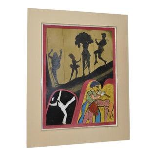 "r.b. Kitaj ""New York Performing Arts Center"" Pencil Signed Lithograph C.1983"