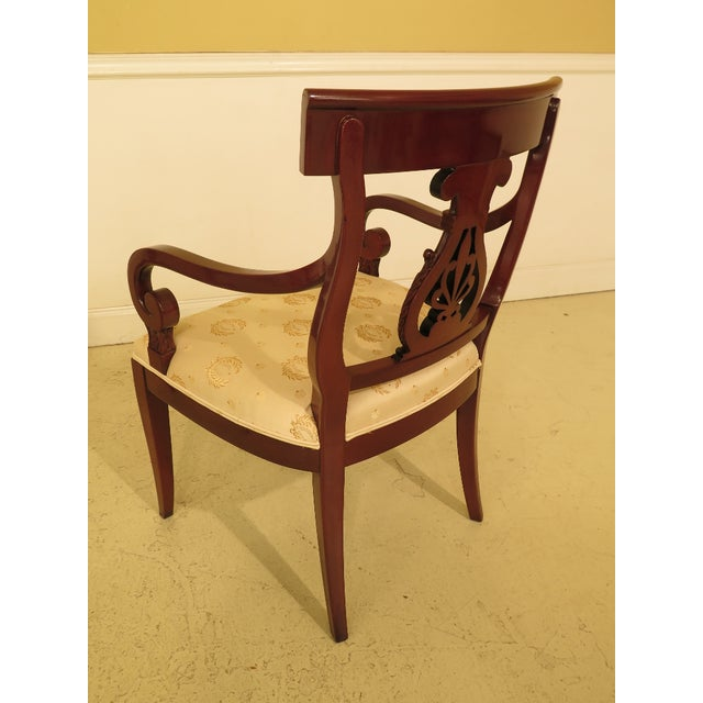 Brown 1990s Vintage Kindel Regency Mahogany Dining Room Chairs- Set of 8 For Sale - Image 8 of 13
