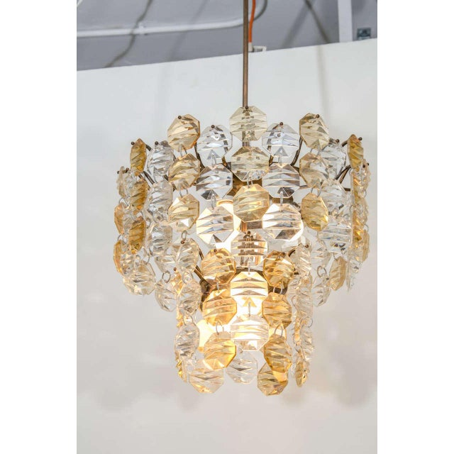 Italian Two-Toned Murano Glass Chandelier For Sale - Image 3 of 7