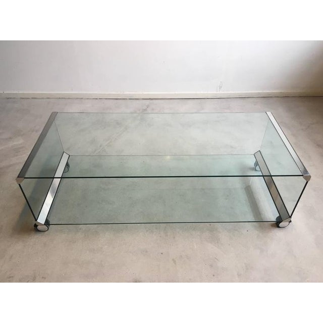 Chrome and Glass Coffee Table, by Pierangelo Galotti for Galotti & Radice, 1975 - Image 2 of 7