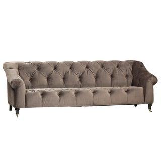 Grey Tufted Velvet Sofa