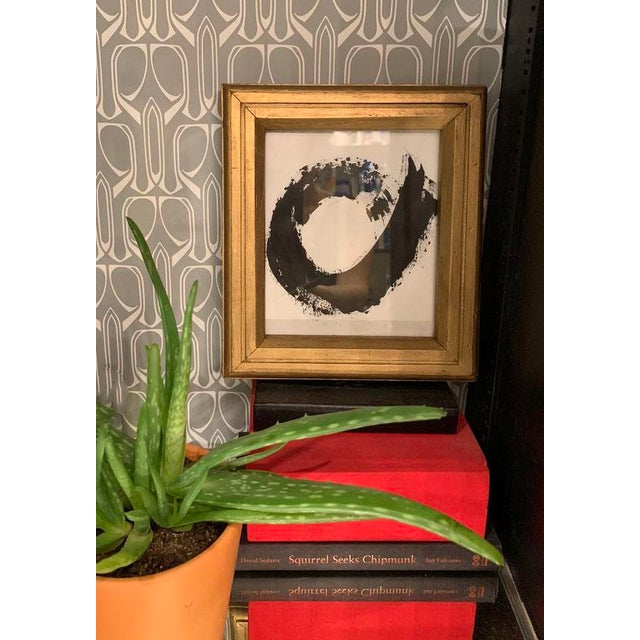Abstract Original Abstract Framed Black and White Painting For Sale - Image 3 of 4