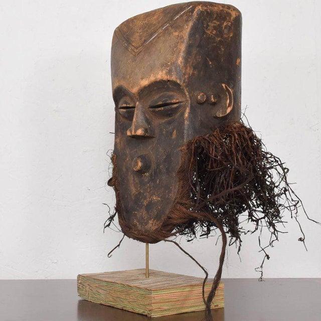 Wood Vintage Lega Mask Bearded Bwami Society For Sale - Image 7 of 7