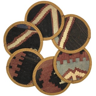Kilim Coasters Set of 6 | Aminçiler For Sale