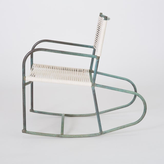 Mid-Century Modern Early Model Walter Lamb Patio Rocking Chair For Sale - Image 3 of 11