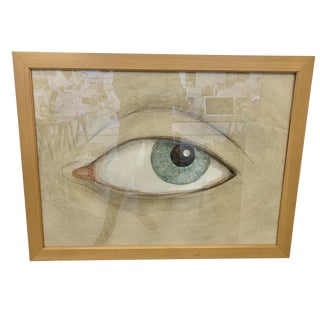 Contemporary Framed Eye Drawing For Sale