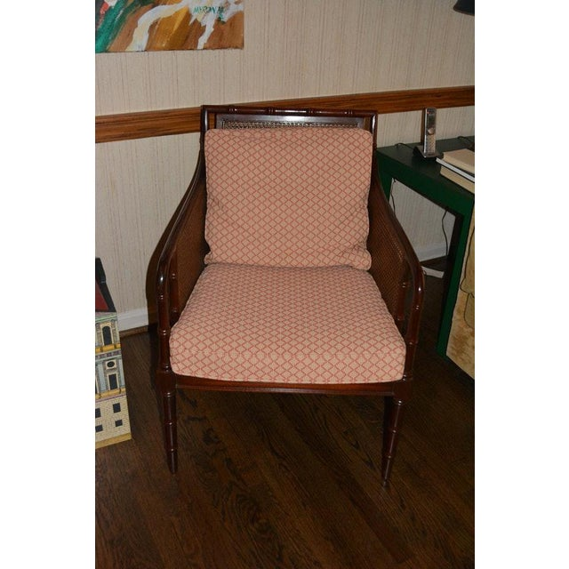 Contemporary 1970s Vintage Hickory Chair Company Cane & Mahogany Armchairs- a Pair For Sale - Image 3 of 13