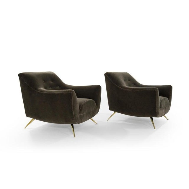 Mid 20th Century Henry Glass Lounge Chairs in Mohair - a Pair For Sale - Image 5 of 13