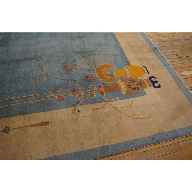 """Blue Antique Chinese Art Deco Rug 12'0"""" X17'6"""" For Sale - Image 8 of 9"""