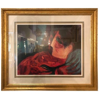 "Barbara Wood ""Desert Flower"" Framed Lithograph Matted and Framed For Sale"