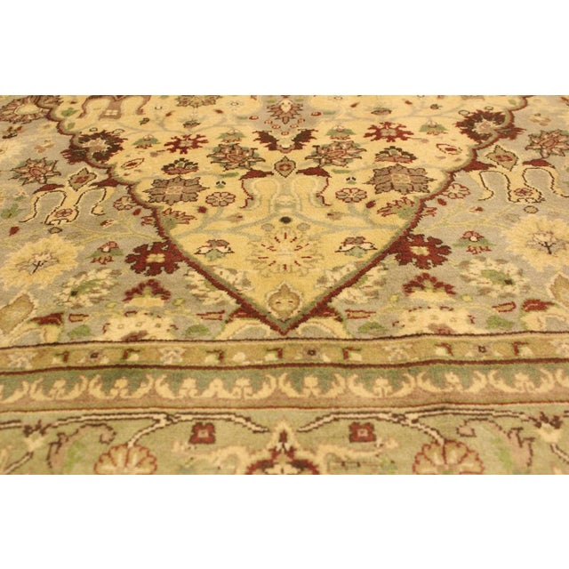 Tabriz Pak-Persian Loren Ivory/Lt. Green Wool Rug - 4'8 X 7'1 For Sale In New York - Image 6 of 8