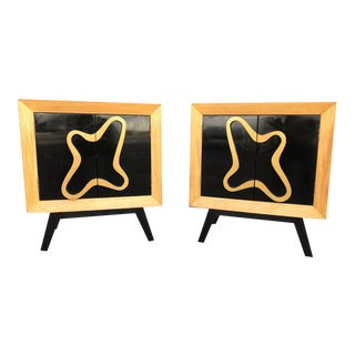 1950s Pair of Nightstands-Karp Furniture. By Maximilian Magnus For Sale