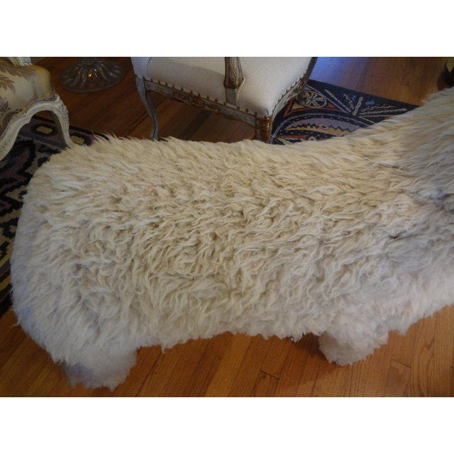 1960s Claude Lalanne Inspired Figurative Shearling Sheep Sculpture / Bench For Sale - Image 9 of 12